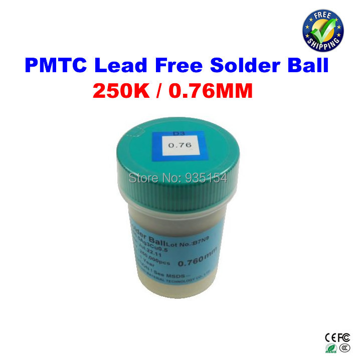 цены  PMTC 250K 0.76mm lead free leaed-free solder balls for bga chip reballing