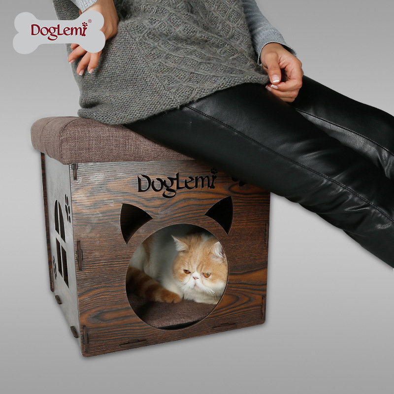Small Pets cat dog bed warming house Soft Easy folded creative stool small cats Sleeping bed
