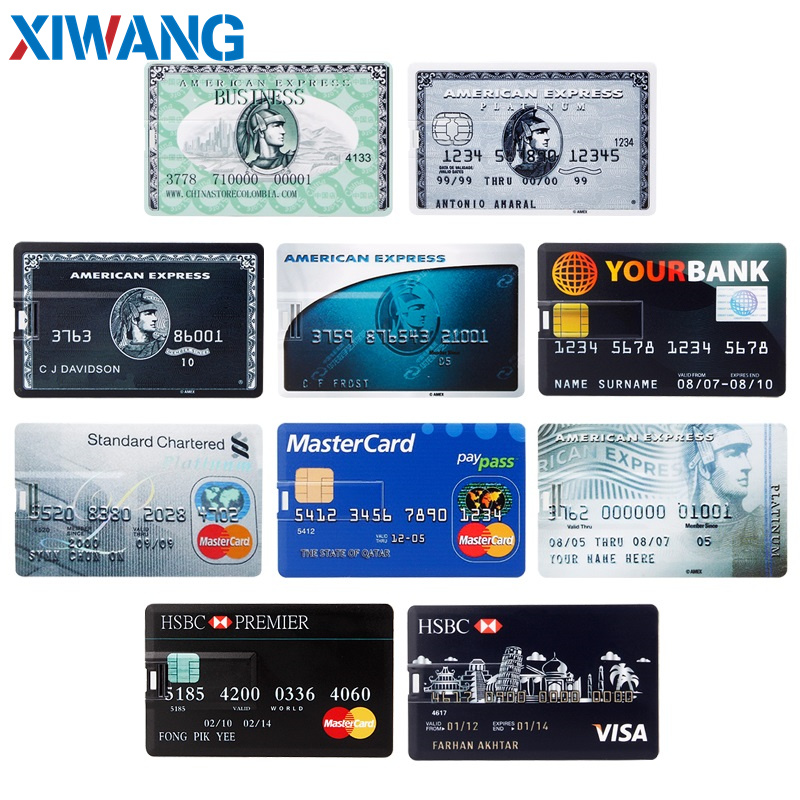 pendrive Bank Credit Card u disk new Waterproof Memory Stick drive 4GB 8GB 16GB 32GB 64GB 128GB USB Flash Drive free custom logo (2)