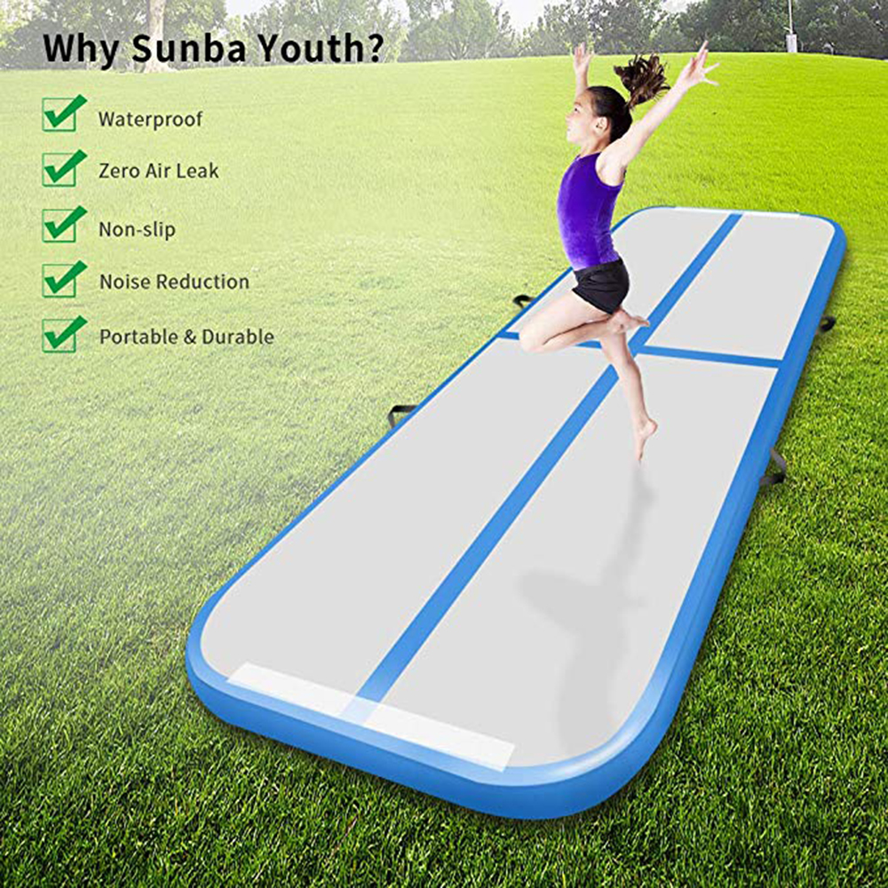 400 100 10cm Inflatable Air Tumble Track Olympics Gym Yoga Wear resistant Tumble Track Floor for Home Park Beach Water Use in Inflatable Bouncers from Toys Hobbies