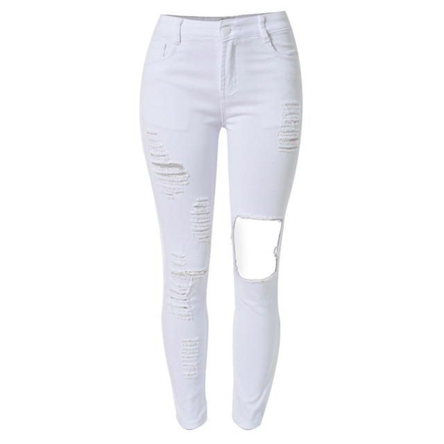 Aliexpress.com : Buy 2016 New Fashion White Ripped Jeans For Women ...