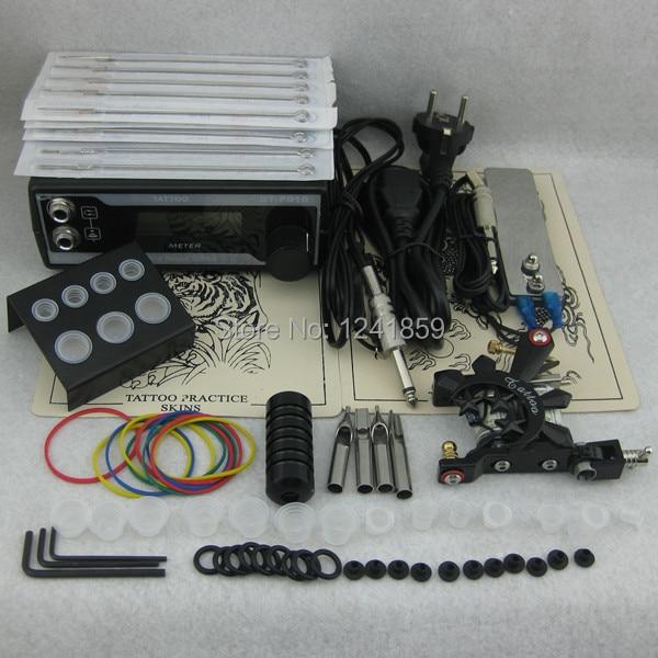 Complete Tattoo Kit Set Tattoo Machine Gun Power Supply Needle Grip Tip Combo Kit Set Supply TKS106# complete tattoo kit set tattoo gun power supply needle grip tip combo kit set supply tks110