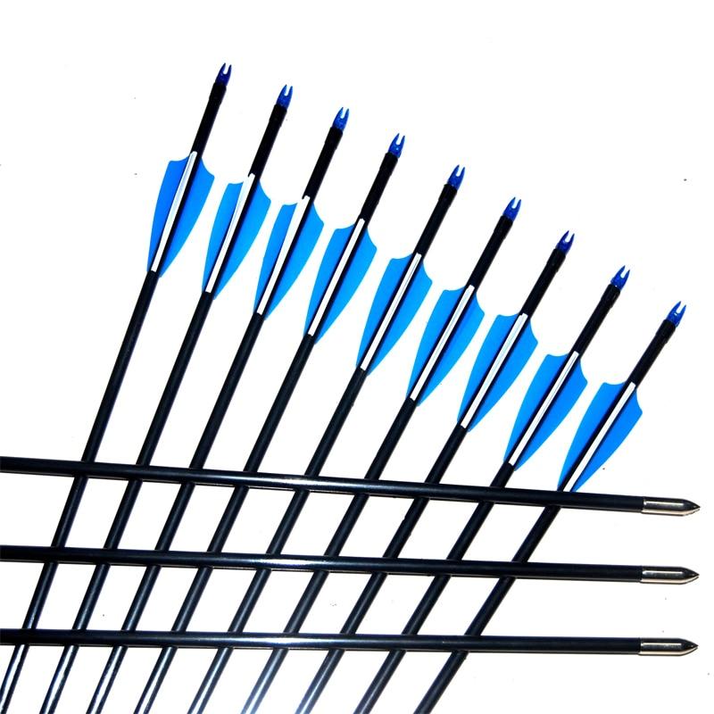Online Shop 31 5 Inches Fiberglass Arrows Recurve Compound Bow