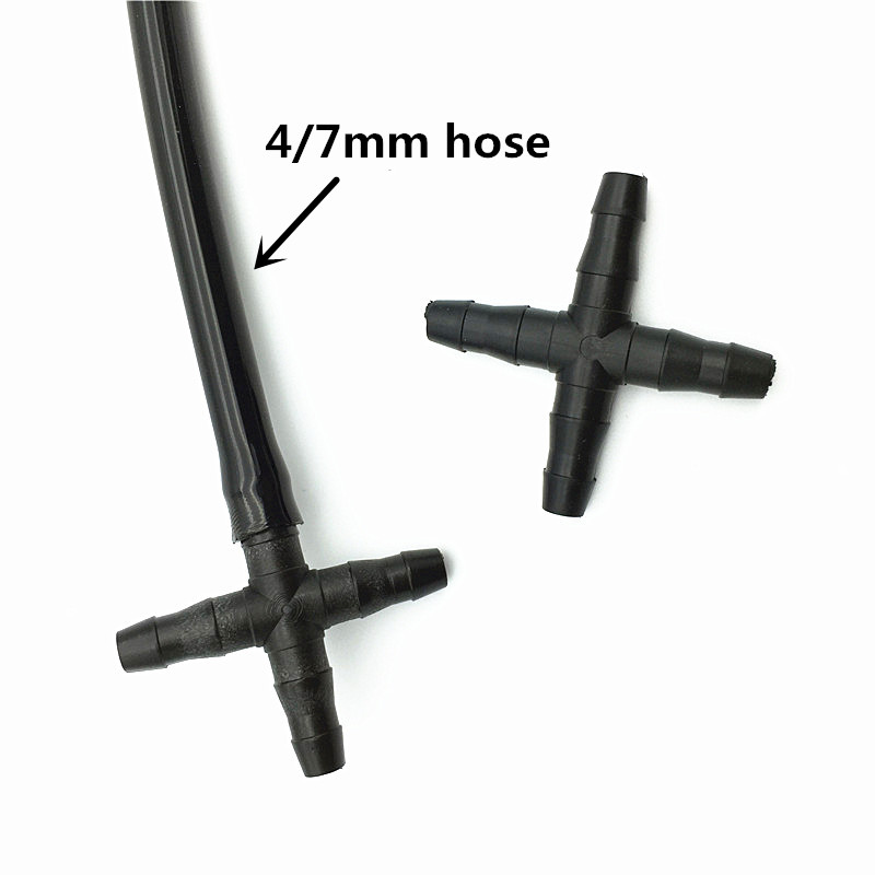 200 Pcs Cross Straight For 47 Mm Hose 14 Barb Barbed Connector
