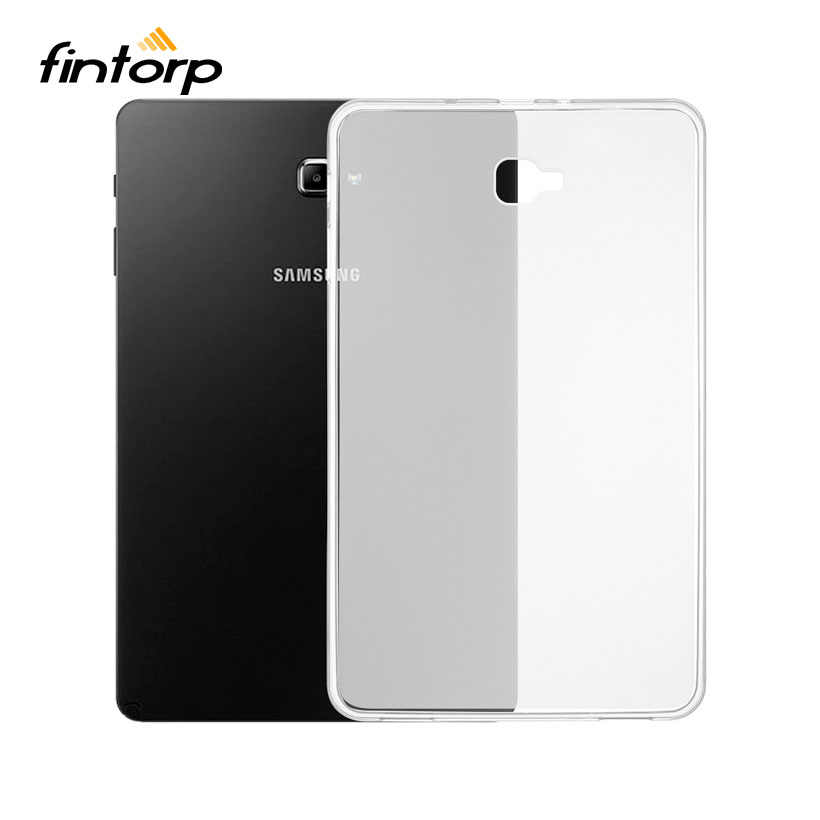 Ultra-thin Waterproof Transparent Case For Samsung Galaxy Tab A 10.1 A6 2016 T580 SM-T580 T580N T585 T585C Soft TPU Clear Cover