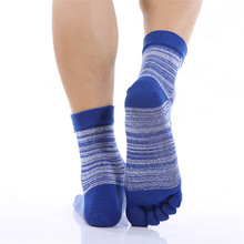 Men Socks Pinstripe Health Care Beriberi Fashion Sweat Sock Winter Autumn Casual Cotton Deodorant Men Fingers