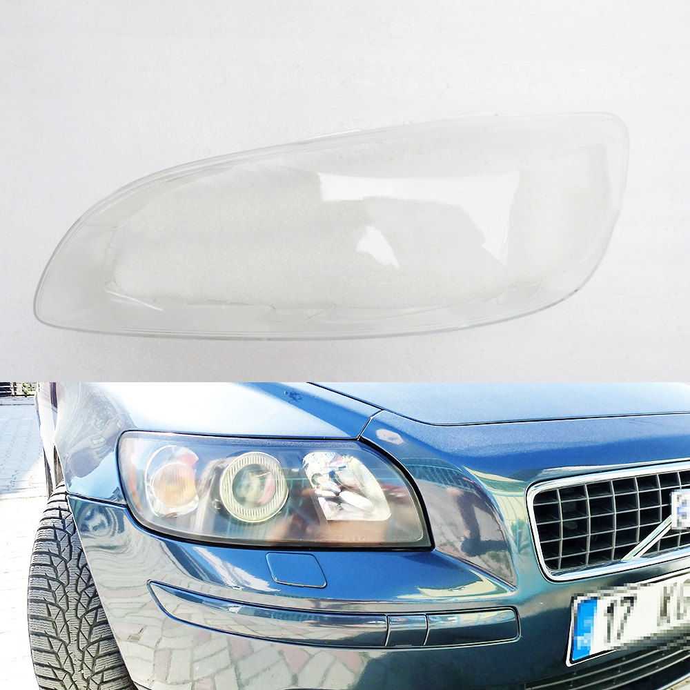 For Volvo S60 2014 2015 2016 2017 Transparent Car Headlight Headlamp Clear Lens Front Auto Shell Cover