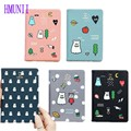 Drop shipping Korean Cute Cartoon Passport Holder Cover PU Leather ID Card Document Folder Travel Ticket Container Pouch Package