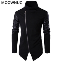 Fashion Sweater Cardigan Male Personality Stand collar Cotton Smart Casual Autumn Slim Keep Warm Homme Cardigan Men MOOWNUC MWC