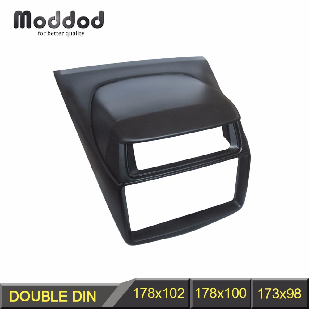 Double Din Fascia for Mitsubishi Pajero Sport Triton L200 Radio DVD Stereo Panel Dash Mounting Installation Trim Kit Face Frame