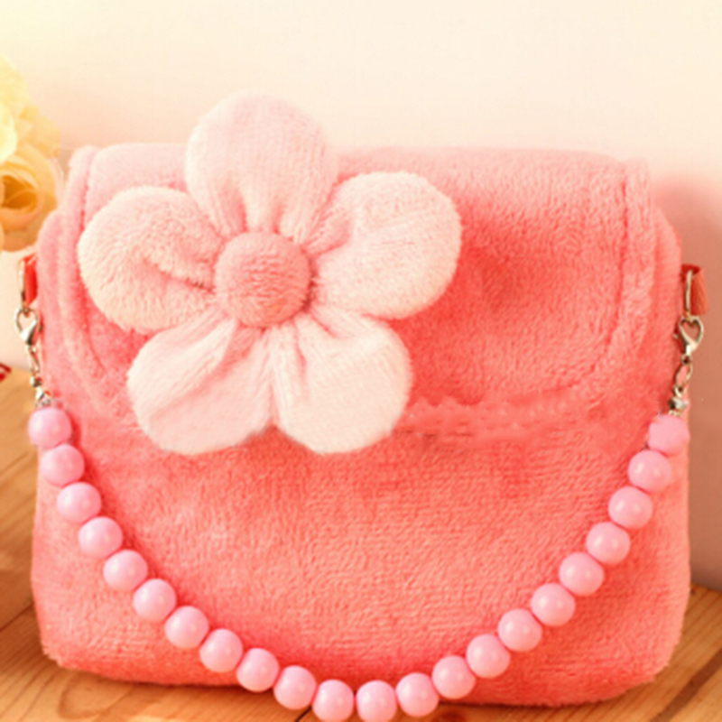Fashion Design Shoulder Bag Kids Children Girls Princess Flower Messenger Handbag Lovely Purses