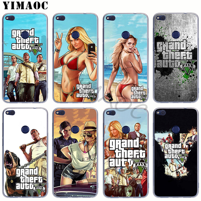 YIMAOC Grand Theft Auto GTA V Мягкий силиконовый чехол для huawei Honor Note 7A Pro 6A 7X 7C 8X8 8C 9 10 Lite