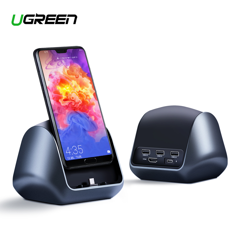 Ugreen USB C Dock Typ C zu 3,0 Hub HDMI PD Adapter für Huawei P20/P20 Pro Mate 10 /Mate 10 Pro Mate RS USB-C Dock Station