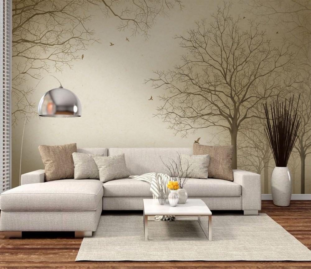 Parati In 3d.Us 16 1 47 Off Modern Wall Paper Tree Landscape Photo Wallpaper Mural Living Room Bedroom Carta Da Parati 3d Self Adhesive Vinyl Silk Wallpaper In