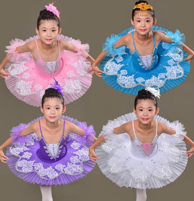 Costumes de Ballet professionnels pour enfants Tutu Ballet justaucorps Dancewear Costume de Ballet de lac des cygnes pour les filles robe de ballerine Costumes