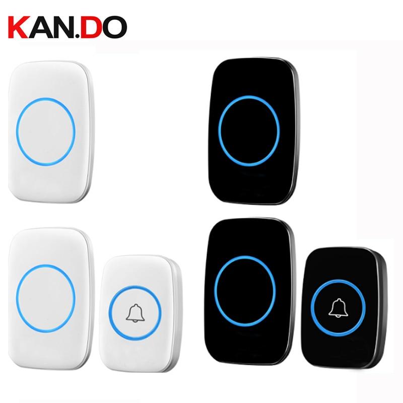 With 2 Receivers Bell Sets Wireless Door Bell Set By 110-220V Wireless Doorbell Ip44  300M Door Chime Door Ring For Villa