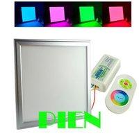 600x600 мм RGB плоская светодиодная панель площадь потолка Lampara 60x60 см изменение цвета + 2.4 г rf пульта дистанционного управления компанией DHL 2 шт.
