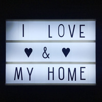 3 Line Cinematic Cinema LED Lightbox With Various Letters LED Night Lamp Power For DIY Home