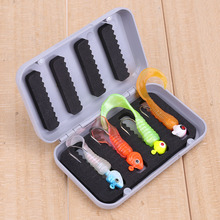 4 Compartment Fishing Tackle Boxes Portable Plastic Fly Fishing Lure Bait Storage Case Lures Box 10 X 6 X 2cm