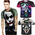3D Impresso Camiseta Cavaleiro Das Trevas Batman Joker Rosto Casual O Pescoço masculino Camiseta Manga Curta Cosplay T camisas Top Plus Size Tee