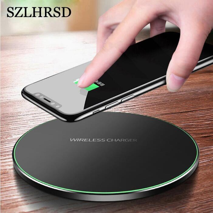 SZLHRSD Qi inalámbrico cargador para Samsung Galaxy M20 M30 A6 A6 más A7 2018 A8 más A9 Pro 2019 base de carga rápida Pad Verdadero yo X50 X 50X5G 8GB 128GB 6,57