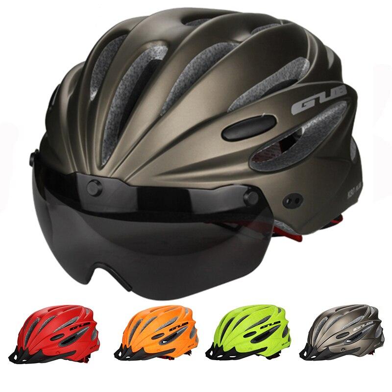 85g/L Haute Densité EPS Lunettes + Bord multifonctio Vélo casque De Vélo VTT vélo de montagne de Casque de sports Vélo bord Cascos Ciclismo