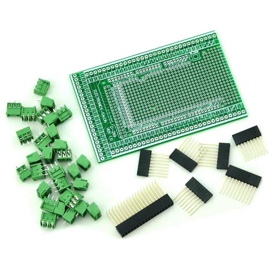 Prototype Screw/Terminal Block Shield Board Kit For MEGA-2560 R3. stud prototype expansion board red green black proto screw shield assembled