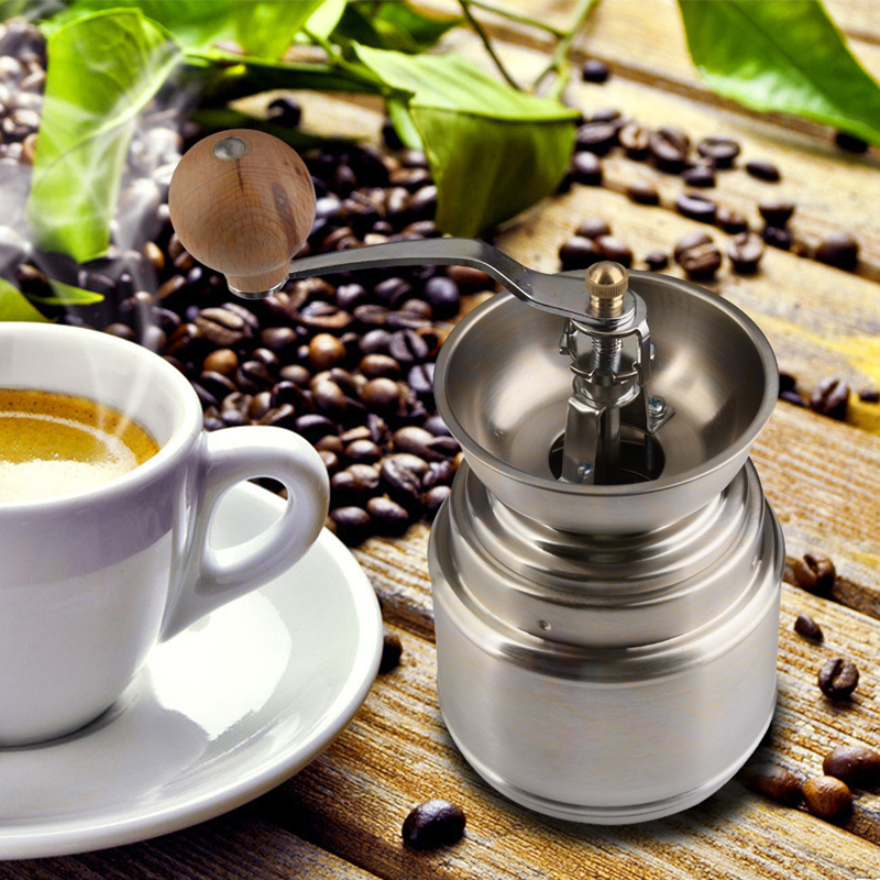 V1NF New Stainless steel Manual handy coffee bean pepper seeds grinder Mill