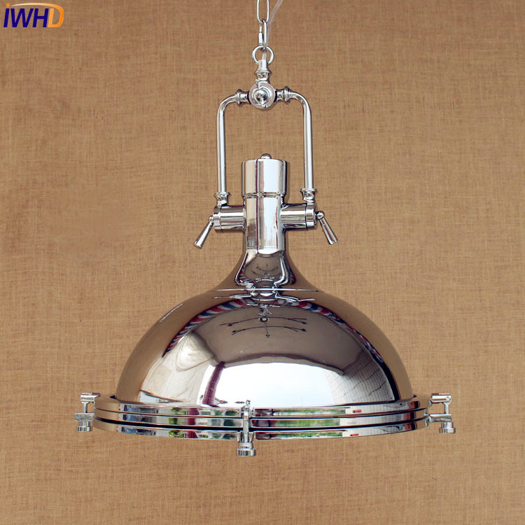 IWHD American Industrial Pendant Lighting Fixtures Sliver Lampen Style Loft Vintage Lamp Hanging Light Lampara Luminaire LEDIWHD American Industrial Pendant Lighting Fixtures Sliver Lampen Style Loft Vintage Lamp Hanging Light Lampara Luminaire LED