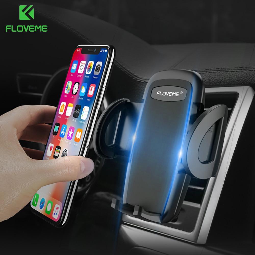 FLOVEME 360 Rotation Car Phone Holder For iPhone X 7 Air Vent Phone Car Holder GPS Monut For Samsung Xiaomi Support Bracket Car