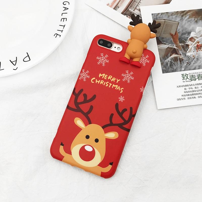 HTB1lw7Ob vI8KJjSspjq6AgjXXaz - Christmas Gift Phone Case For iPhone 6 6S 7 8 Plus Cartoon Christmas Deer & Snowman Soft TPU Phone Back Cover Cases PTC 284
