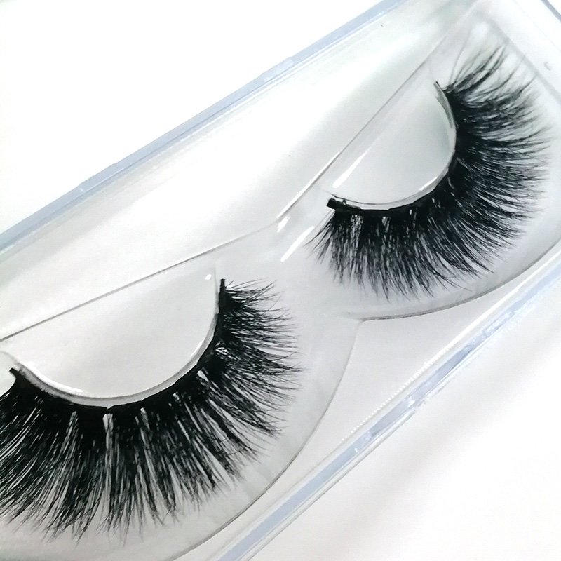 1 Pair 3D Mink Hair False Eyelashes Manual Eye Extension