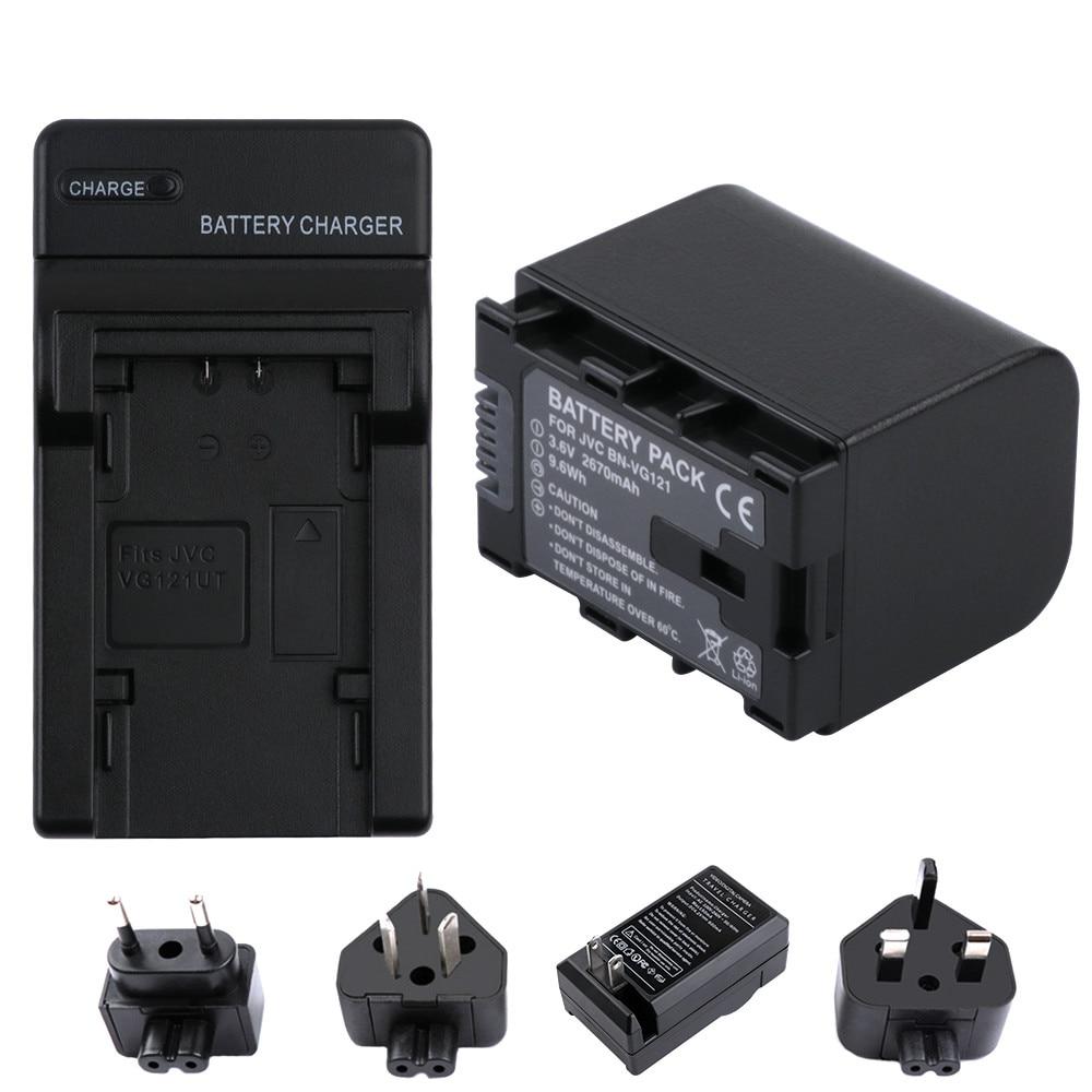 BN-VF823 BN-VF815 BN-VF815U BN-VF823U Kit caricabatteria per JVC BN-VF808 BN-VF808U