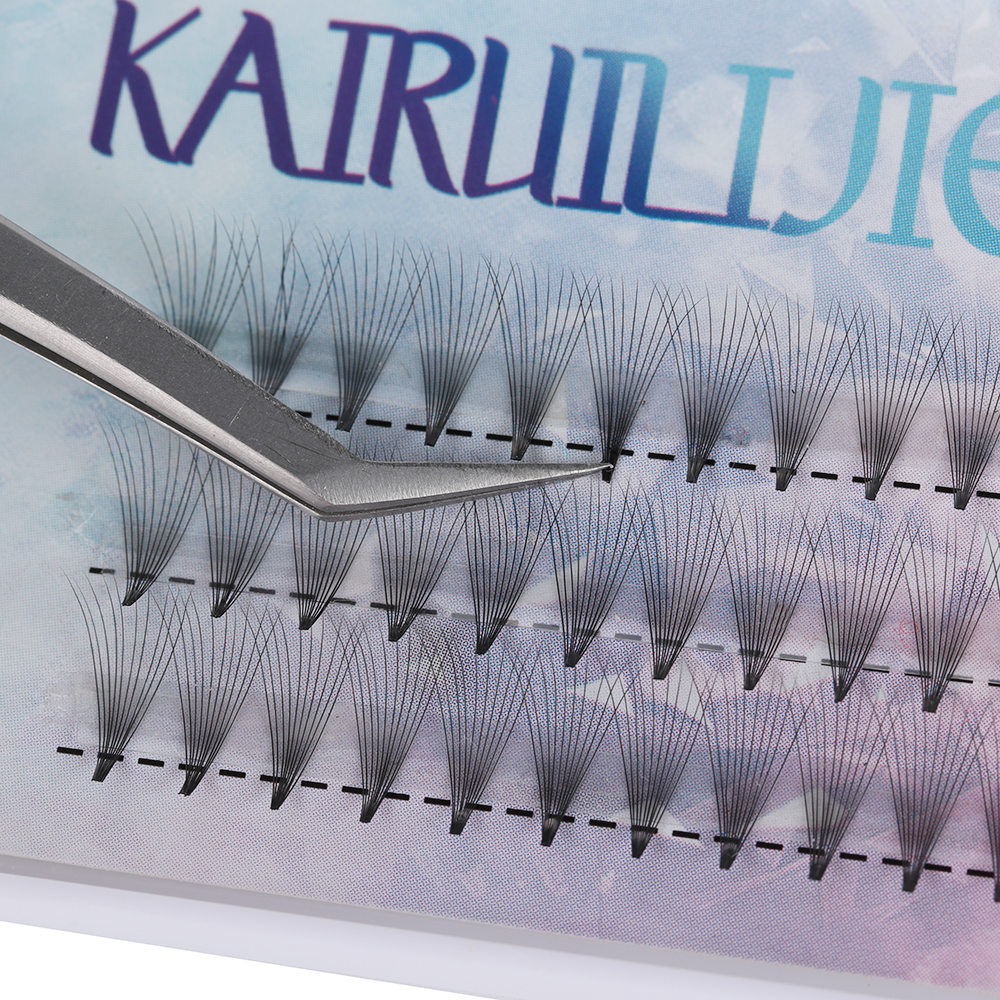 Image 5 - 10D 20D Premade Volume Fan False Eyelashes C Curl Knotted/Knot Free Individual Eyelashes Extension Natural Long Semi permanent E-in False Eyelashes from Beauty & Health