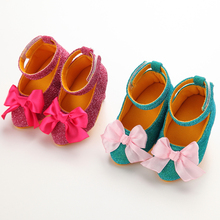 Fashion Lovely Infant Toddler Newborn Baby Girls Princess Prewalker Shoes High Heels Crib Babe Wedding Party Shoes For 0-1T