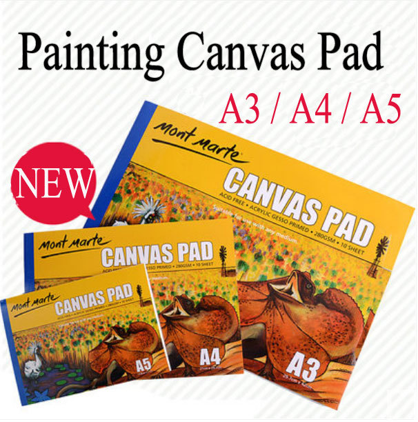 Painting paper Painting canvas pad for artist /students 280g painting canvas paper A3/A4/A5