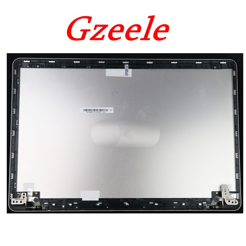 GZEELE New LCD Back Cover For ASUS X580 M580VD-EB76 LCD Back Cover Real Lid W Hinges Silver Color 13N1-29A0101