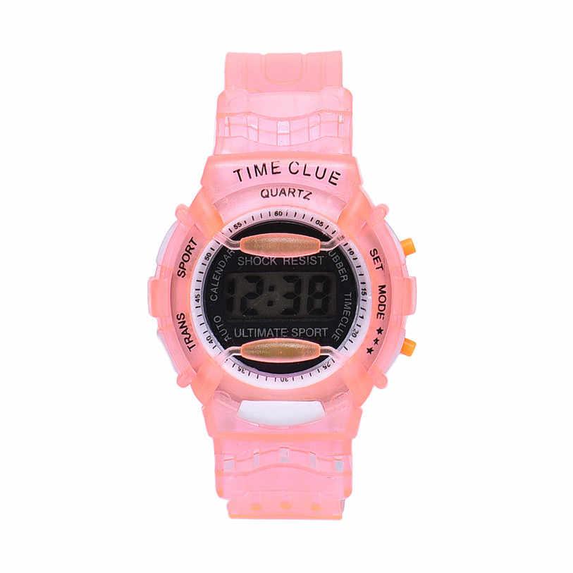 Превосходное Обувь для мальчиков Обувь для девочек Дети Студенты Водонепроницаемый цифровой наручные часы Спорт Relogio Ноя 8
