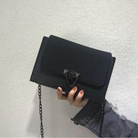 Fashion Small Women Messenger Bags For Girls Flap PU Leather Chain Black Crossbody Bag For Women