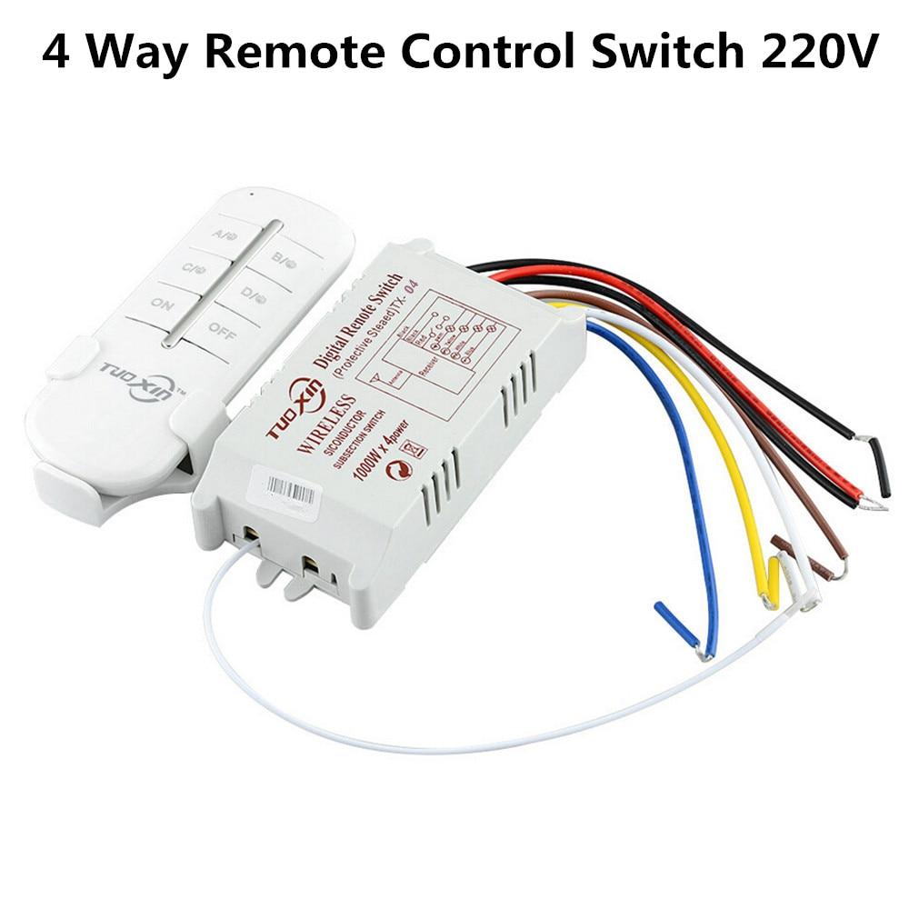4 דרך מרחוק חכם אלחוטי מקלט מודול 190 V-250 V 220 V RF 315 mhz שלט רחוק עבור מנורה & אור