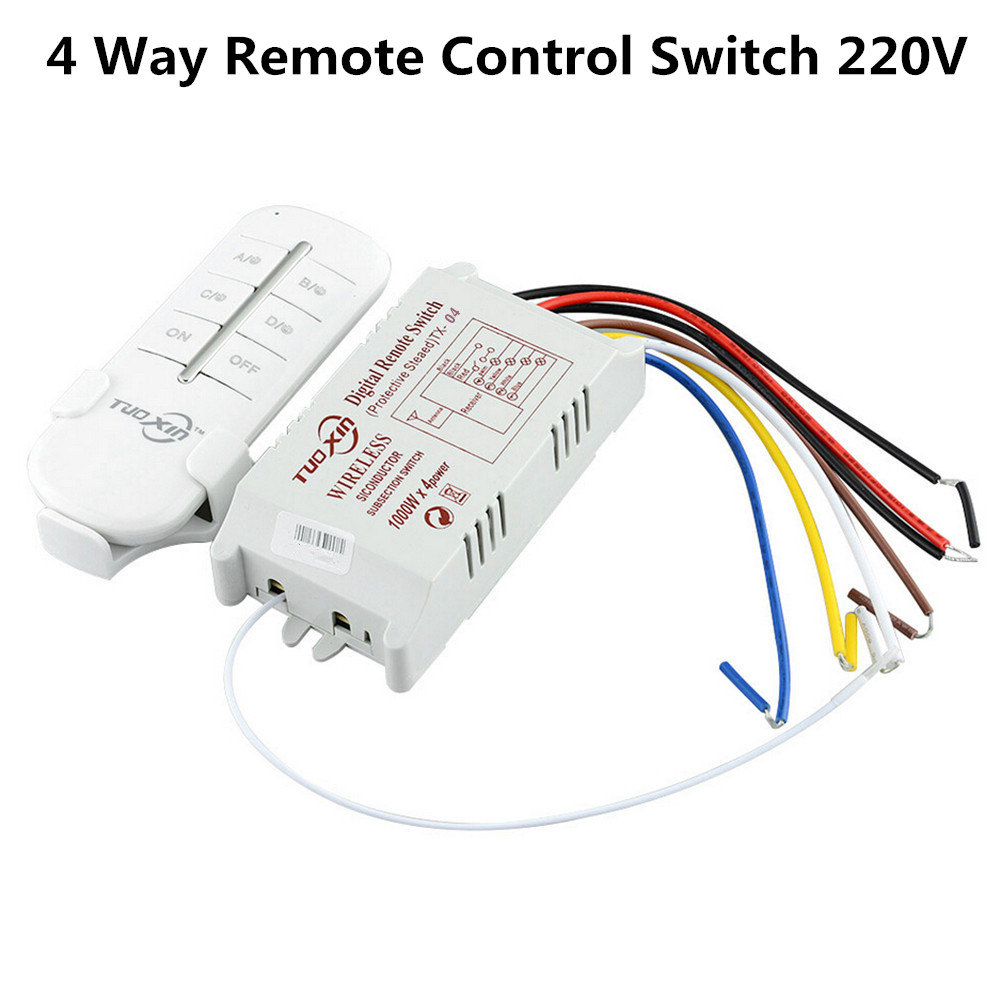 Hot Sale 4 Way Wireless Remote Smart Switch Receiver Module 190v Wiring 250v 220v Rf 315mhz Control For Lamp Light