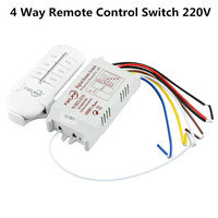 4 Way Wireless   Remote     Smart   Switch Receiver Module 190V-250V 220V RF 315mhz   Remote     Control   for Lamp & Light