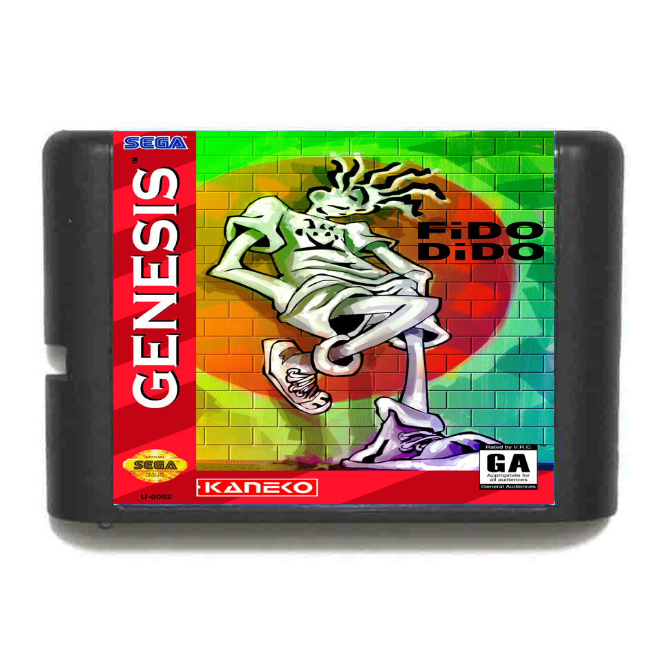 Fido Dido 16 bit SEGA MD Game Card For Sega Mega Drive For Genesis