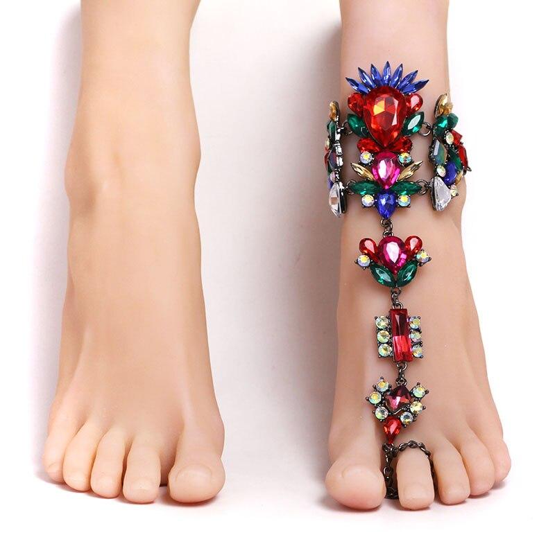 achetez en gros bracelets de cheville en cristal en ligne des grossistes bracelets de cheville. Black Bedroom Furniture Sets. Home Design Ideas