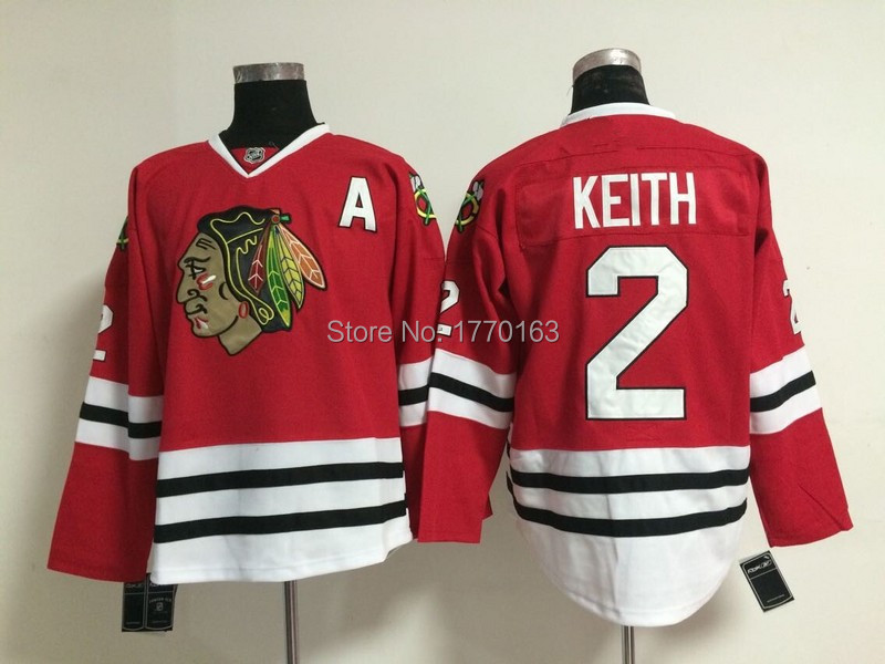 3ec40c1e7533 2 Duncan Keith Jersey Chicago Blackhawks Hockey Jersey Home Red Road White  Third Best Quality Cheap ...