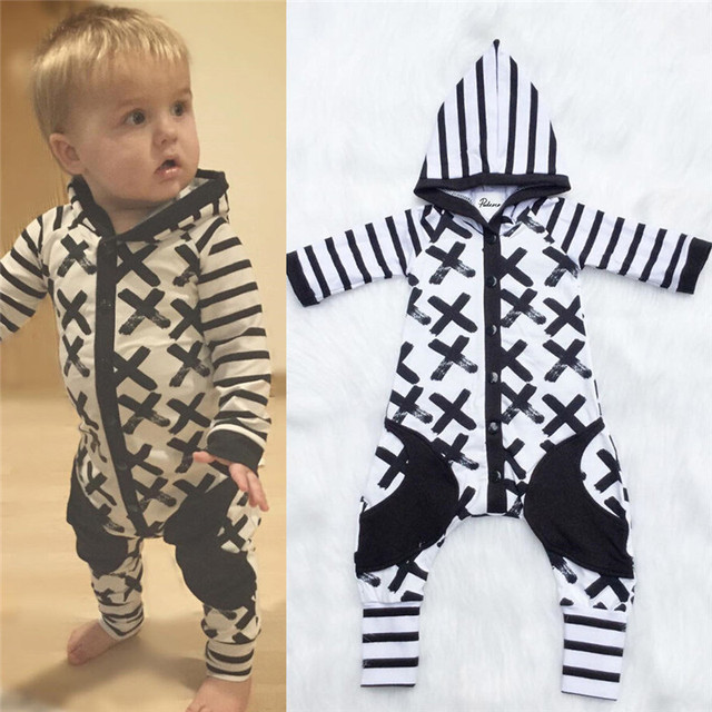 6bacd2602 Newborn Infant Baby Boys Girls Romper Long Sleeve Warm Clothes ...
