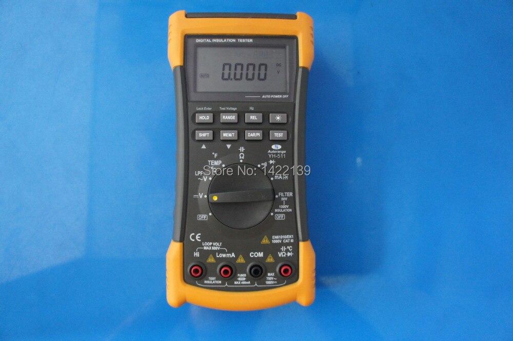YH511 Portable Megohmmeter Digital Insulation Resistance Meter Tester