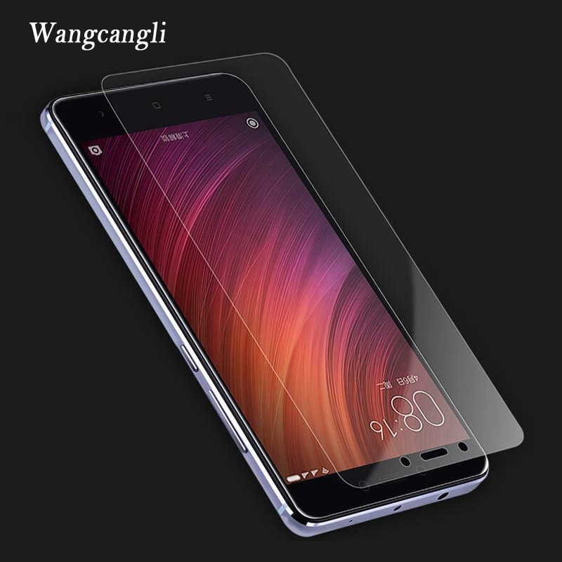 Wangcangli Protective Glass For Xiaomi Redmi 4x Screen Protector Glass For Xiaomi Redmi Note 4x 4A Note 4 Pro 3 Tempered Glass