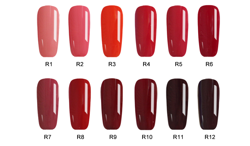 SLYGOS 1pcs Red Series Nail Gel Polish Soak Off Classic UV LED Gel Color Nail Art Gel Lacquer 10ml Manicure Xmas Gifts in Nail Gel from Beauty Health