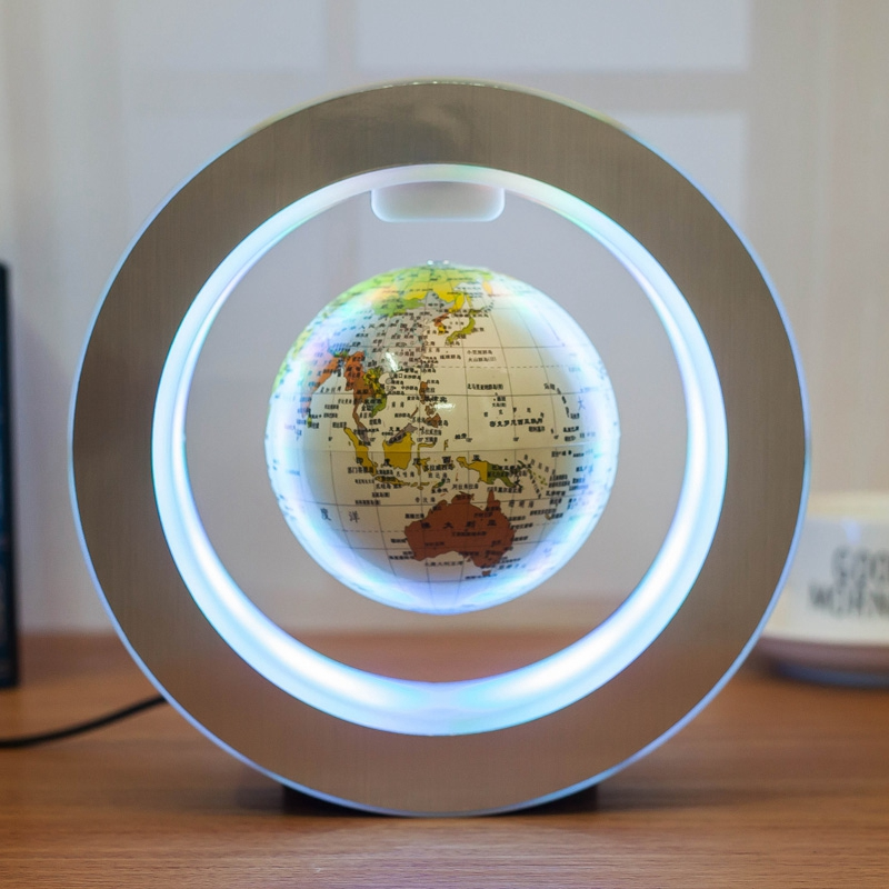 Magnetic Levitation Novelty Round LED World Map Globe Lamp Luminous Rotation Display Antigravity MagicDec Plasma Ball Light (4)